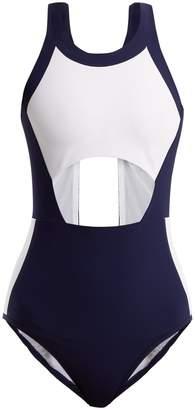 LNDR Ariel contrast-panel cut-out swuimsuit