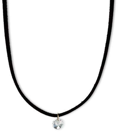 "Choker with Cubic Zirconia - 12"" - Black"