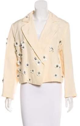 Lanvin Floral-Embellished Lightweight Jacket