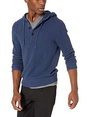 J.Crew Mercantile Men's Textured Cotton Henley Hoodie Sweater
