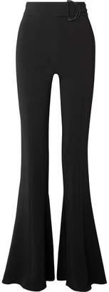 Cushnie et Ochs High-rise Stretch-crepe Flared Pants - Black