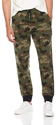 Rebel Canyon Men's Young Fr Terry Camo Print Jogger Pant with Side Seam Taping