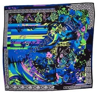 Versace Medusa Silk Printed Square Scarf