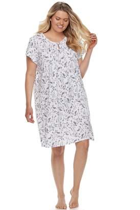 Croft & Barrow Plus Size Keyhole Nightgown