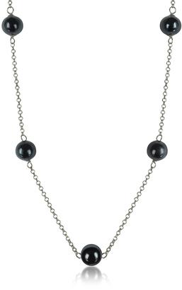 Antica Murrina Perleadi Black Murano Glass Beads Necklace $58 thestylecure.com