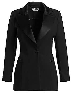 Chiara Boni Women's Mildred RA Satin Lapel Tuxedo Jacket