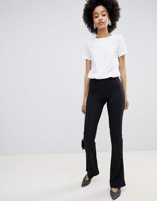 Miss Selfridge Skinny Rib Flare PANTS