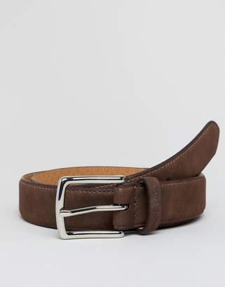 Ben Sherman Skinny Leather Belt Brown