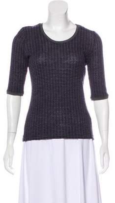 Armani Collezioni Scoop Neck Knit T-Shirt