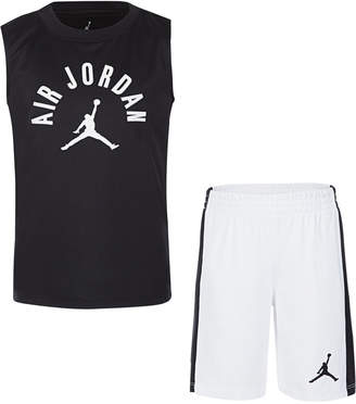Jordan Little Boys 2-Pc. Air Print Tank & Shorts Set