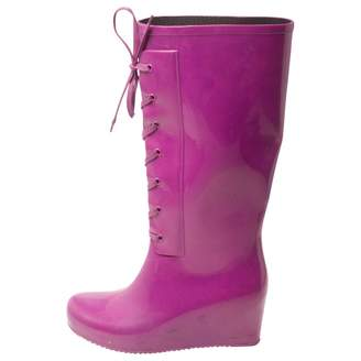 Saint Laurent Purple Rubber Boots