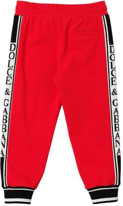 Dolce & Gabbana (ドルチェ & ガッバーナ) - DOLCE & GABBANA インターシャロゴ コットンスウェットパンツ
