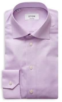 Eton Contemporary Fit Herringbone Dress Shirt