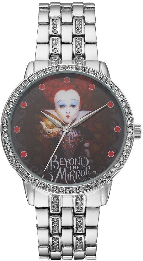 "Disney Disney's Alice Through the Looking Glass Red Queen ""Beyond The Mirrors"" Women's Crystal Watch"