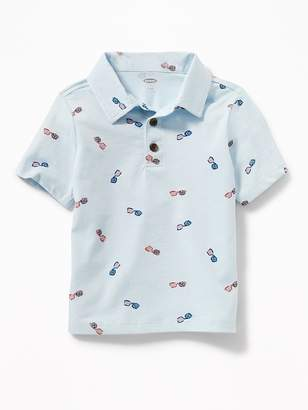 Old Navy Printed Jersey Polo for Toddler Boys