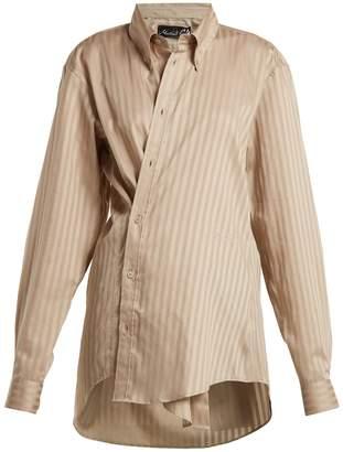 Martine Rose Oversized tonal-striped shirt