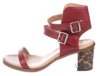 MM6 MAISON MARGIELA Leather Ankle-Strap Sandals
