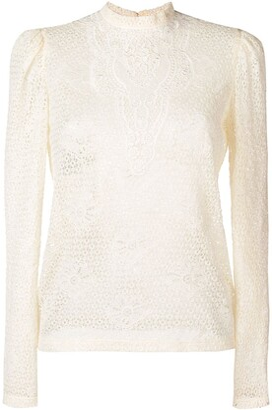 Philosophy di Lorenzo Serafini lace embroidered blouse