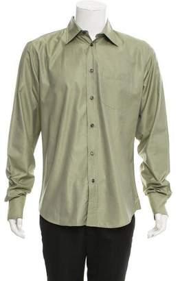 Bottega Veneta Silk Blend Button-Up Shirt