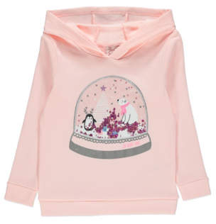 George Pink Snow Globe Sequin Christmas Hoodie