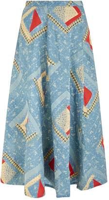 Polo Ralph Lauren Patchwork Maxi Skirt