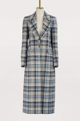 Acne Studios Long plaid coat