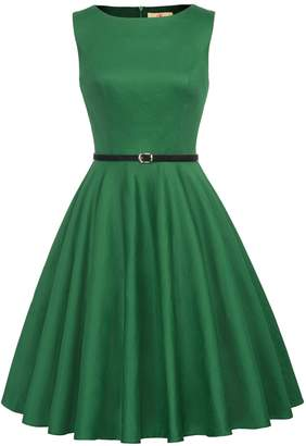 Forever 21 GRACE KARIN Sleeveless 60s Vintage Classic Dress Crew Neck Size F-49