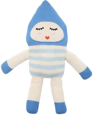 Luckyboysunday Bonbon Blue Alpaca Knit Stuffed Toy