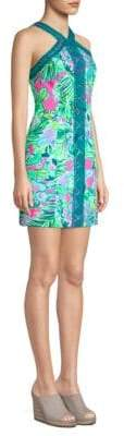 Lilly Pulitzer Vena Palm Print Mini Dress