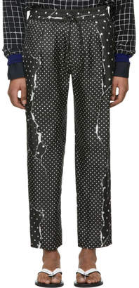 Haider Ackermann Black Gaspeite Trousers
