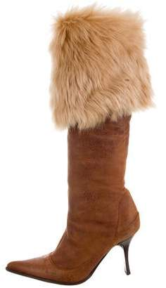 Vicini Shearling Over-The-Knee Boots