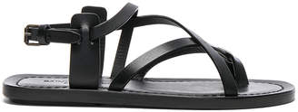Saint Laurent Leather Nu Pieds Strappy Sandals
