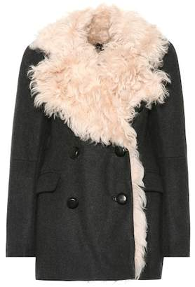 Isabel Marant Berit fur-trimmed wool-blend coat