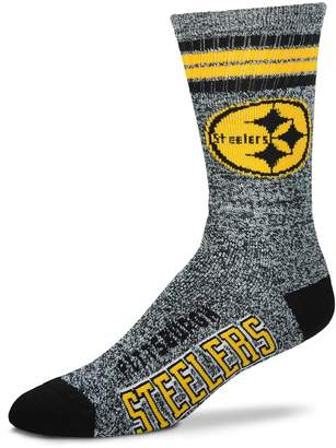 For Bare Feet Adult Pittsburgh Steelers Got Marbled Crew Socks