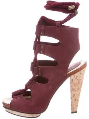 Derek Lam Suede Lace-Up Sandals