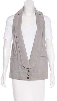 Diane von Furstenberg Open Front Leather Vest