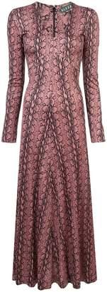 ALEXACHUNG Alexa Chung long snake effect dress