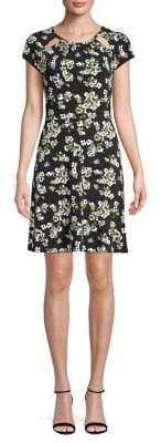MICHAEL Michael Kors Floral Cut-Out Shift Dress