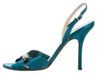 Jimmy Choo Satin Slingback Sandals