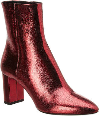 Saint Laurent Metallic Leather Ankle Bootie