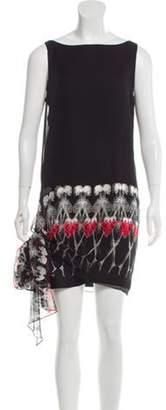 Thomas Wylde Silk Skeleton Print Dress Black Silk Skeleton Print Dress
