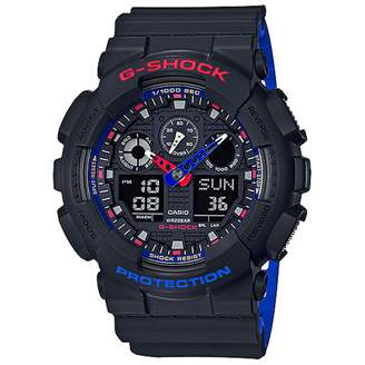 Casio G-Shock GA100LT-1A Tri Color Analog-Digital Men's Watch