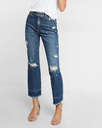 6446683cb70 High Waisted Straight Ankle Jeans - ShopStyle