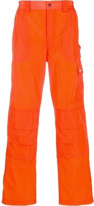 MSGM fluorescent cargo trousers