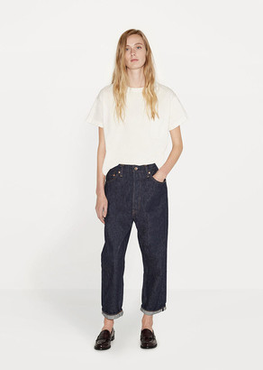 Chimala Wide Tapered Cut Selvedge Jeans $288 thestylecure.com