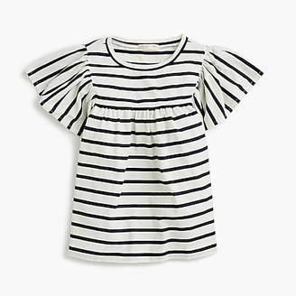 J.Crew Girls' bell-sleeved T-shirt in stripes