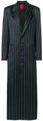 Margaux Rouge striped long blazer dress
