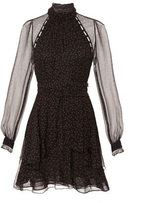 Nicholas Floral High Neck Mini Dress