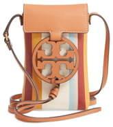 1761952d0 Tory Burch Miller Stripe Leather Phone Crossbody Bag