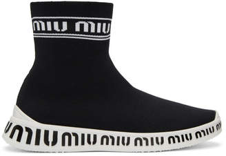 Miu Miu Black Sock Sneakers
